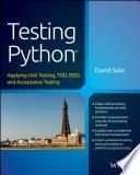 Testing Python