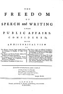 download ebook the freedom of speech and writing upon public affairs pdf epub