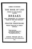 Book Liber CCCXXXIII [i.e. Trecentesimus Tricesimus Tertius]