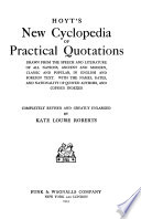 Hoyt S New Cyclopedia Of Practical Quotations
