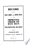 Record of the Great Council of the United States of the Improved Order of Red Men