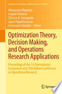 Optimization Theory Decision Making And Operations Research Applications