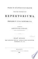 Hazai és külföldi folyóiratok Magyar tudományos repertoriuma
