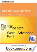 Word 2007 Advanced  Part II