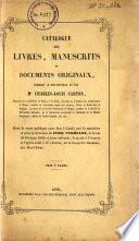 Catalogue de vente des livres de Charles Louis Carton  le 26 fevrier 1866