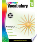 Spectrum Vocabulary  Grade 3