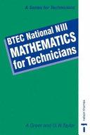 BTEC National NIII - Mathematics for Technicians