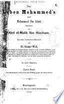 Das Leben Mohammed's nach Mohammed ibn Ishak