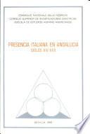 Presencia italiana en Andalucía, siglos XIV-XVII