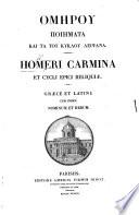 Homeri Carmina Et Cycli Epici Reliquiae Edited By J F D Bner Cum Indice