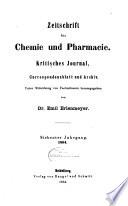 Zeitschrift f  r Chemie und Pharmacie