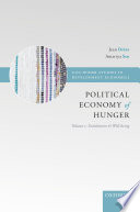 The Political Economy of Hunger  Volume 1  Entitlement and Well being