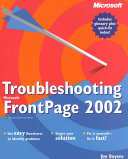 Troubleshooting Microsoft Frontpage 2002