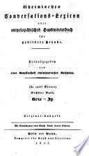Neues Conversations Lexicon oder Encyclop  disches Handw  rterbuch f  r gebildete St  nde