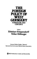 The Foreign policy of West Germany