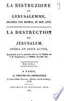 La distruzione di Gerusalemme