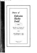 Diary of Ephraim Shelby Dodd