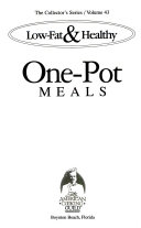 Low fat   healthy one pot meals