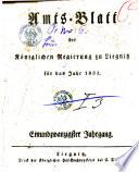Amts-Blatt der Preußischen Regierung zu Liegnitz