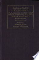 Karl Marx's Social and Political Thought