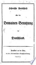 Geschichte der Domänen-Benutzung in Deutschland