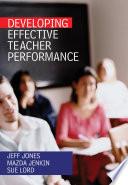 Developing Effective Teacher Performance