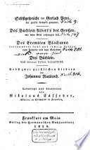 Selbstgespräche Gerlach Petri das Büchlein Albert's des Grossen [Albertus Magnus] wie man Gott anhangen soll