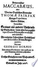 Britannischer Maccabaeus oder von des englischen Generalen Thomae Fairfax Kriegsexpedition sieben Bücher