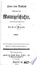 Herrn von Buffons Allgemeine Natugeschichte