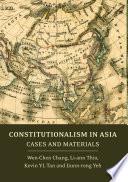 Constitutionalism in Asia