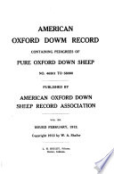 american oxford down sheep record association