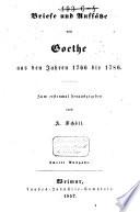 Briefe und Aufs  tze aus den Jahren 1766 bis 1786