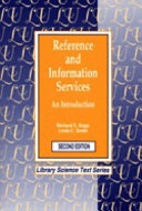 Reference And Information Services book