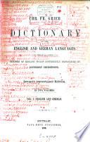 Englisch Deutsches und Deutsch Englisches W  rterbuch mit einer tabellarischen Uebersicht der von den neueren englischen Ortho  pisten verschieden ausgesprochenen W  rter