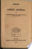 Rapport du Comit   central pour l   tablissement du culte allemand dans le canton de Vaud