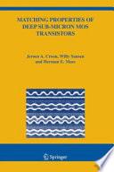 Matching Properties of Deep Sub Micron MOS Transistors