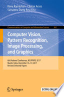 Computer Vision, Pattern Recognition, Image Processing, and Graphics