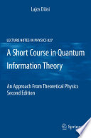 A Short Course in Quantum Information Theory