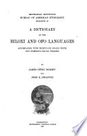 A Dictionary of the Biloxi and Ofo Languages