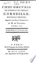 Les Chef-d'oeuvres de Pierre et de Thomas Corneille