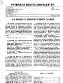 Veterans Rights Newsletter
