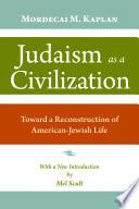 Judaism as a Civilization