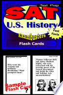 SAT 2 US History Test Prep Review  Exambusters Flash Cards