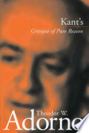 Kant's Critique of Pure Reason (1959)