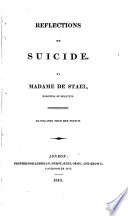 Reflections On Suicide : ...