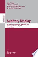 Auditory Display