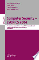 Computer Security   ESORICS 2004