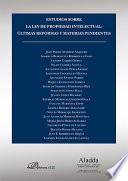 Estudios sobre la ley de propiedad intelectual    ltimas reformas y materias pendientes