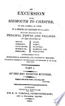 An Excursion From Sidmouth To Chester In The Summer Of 1803
