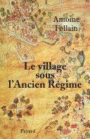 download ebook le village sous l\'ancien régime pdf epub
